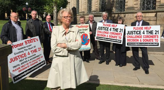 Birmingham pub bombings campaigners from the Justice4the21 group (Richard Vernalls/PA)