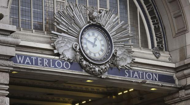 Three weeks of severe disruption to rail services at Waterloo station in London has begun (PA)