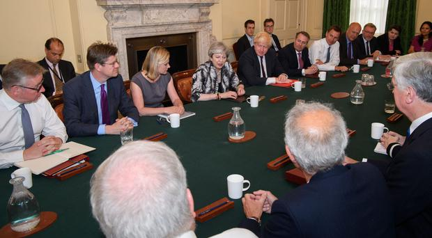 Theresa May's Cabinet in June 2017 (Leon Neal/PA)