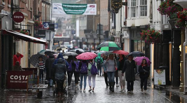 In some places 20 to 30 millimetres of rain is predicted to fall within two or three hours (Andrew Matthews/PA)