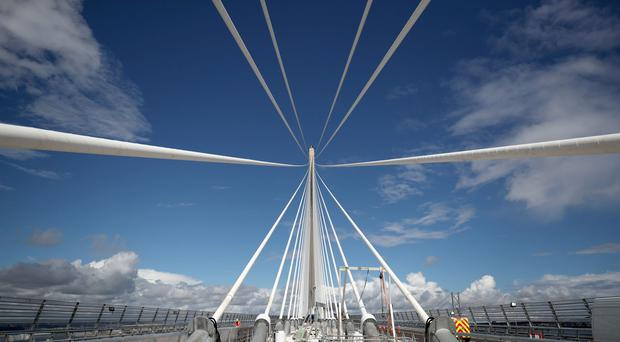 The bridge will be the highest bridge in the UK and the longest three-tower cable-stay bridge in the world (Jane Barlow/PA)