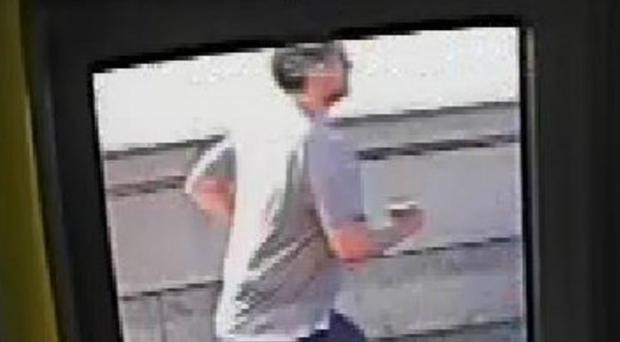 Metropolitan Police issued a picture of the jogger taken from bus CCTV (PA)