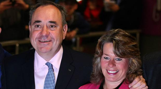 Alex Salmond with Michelle Thomson in 2014 (PA)