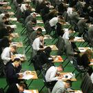 More and more young people say they are stressed over exams. File photo