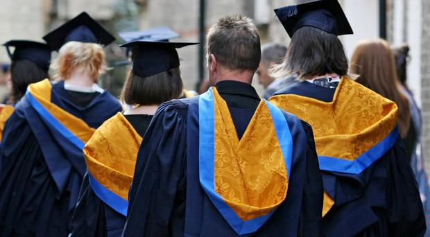 The number of students accepted on to UK degree courses is down 2% on the same point last year (Chris Radburn/PA)