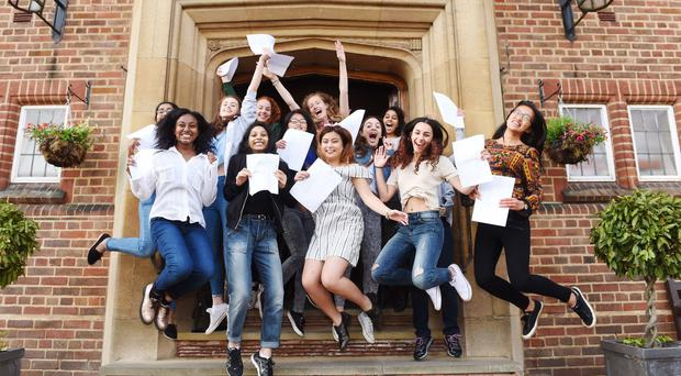 A-level results have risen for the first time in six years (Joe Giddens/PA)