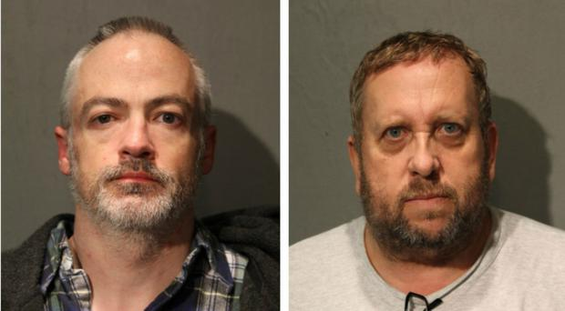 Wyndham Lathem, left, and Andrew Warren have been charged with murder (Chicago Police Department/AP)