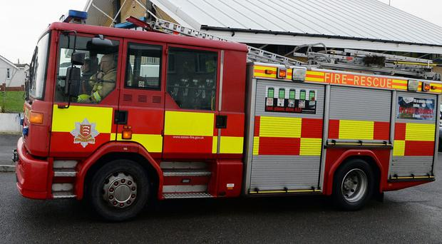 Around 100 firefighters tackled the blaze on Festival Way (AP)