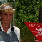 The Twitter account cited Diana's work towards a ban on landmines as being her most important legacy (John Stillwell/PA)