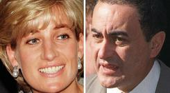 Diana, Princess of Wales, and Dodi Fayed died in 1997 (PA)