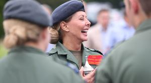 Carol Vorderman has picked up an award for her work with RAF cadets (Jonathan Brady/PA)