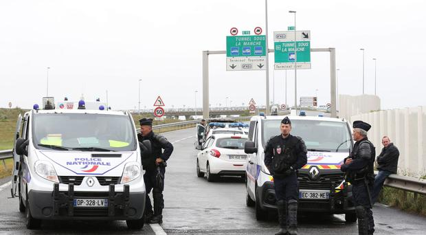 Gangs of migrants have been involved in multiple brawls on roads approaching Calais (Chris Radburn/PA)