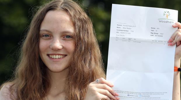 Millie took her exams aged just 15 (Owen Humphreys/PA)