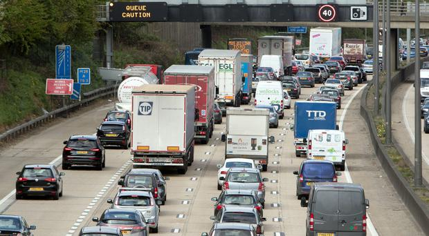 Bank holiday drivers are facing congested roads (Steve Parsons/PA)