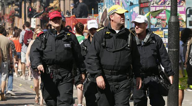 Police at the Notting Hill Carnival (Yui Mok/PA)