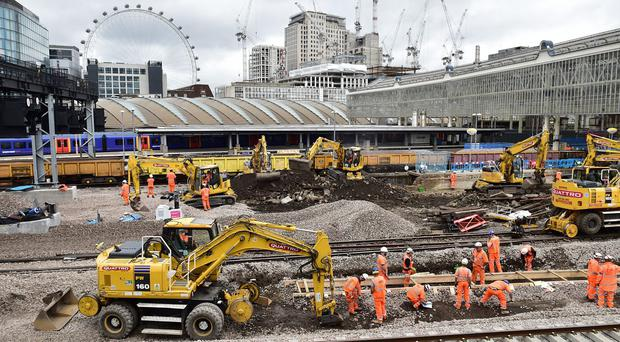 Waterloo Station is expected to fully reopen for passengers on Tuesday (Dominic Lipinski/PA )