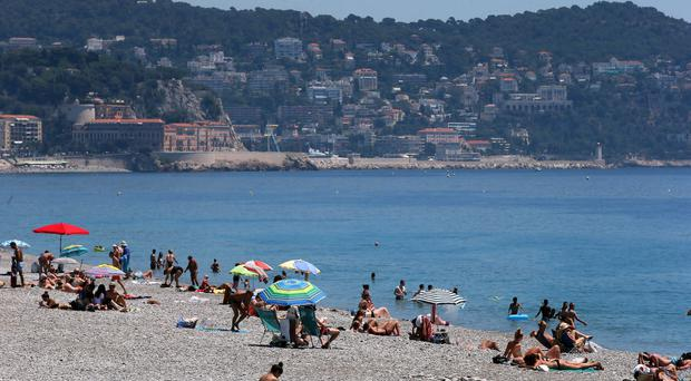 The beach front on the Promenade des Anglais, Nice, France (Brian Lawless/PA)