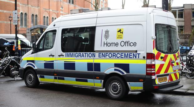 Shane Ridge received a letter from the Home Office's immigration and enforcement department (Yui Mok/PA)