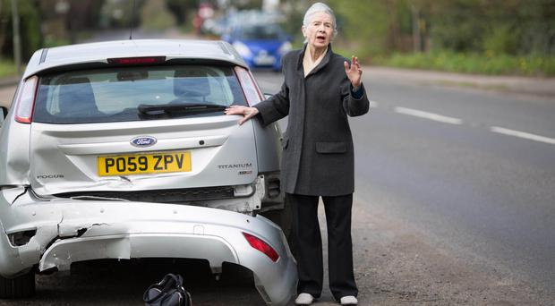 A road safety experiment to see if members of the public stop to assist stranded drivers when their car is left undriveable after an accident (David Parry/PA)