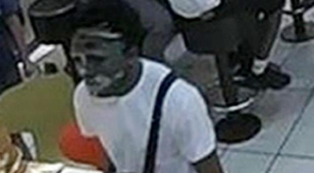 CCTV image of Joshua Clements wearing a mask (Met Police/PA)