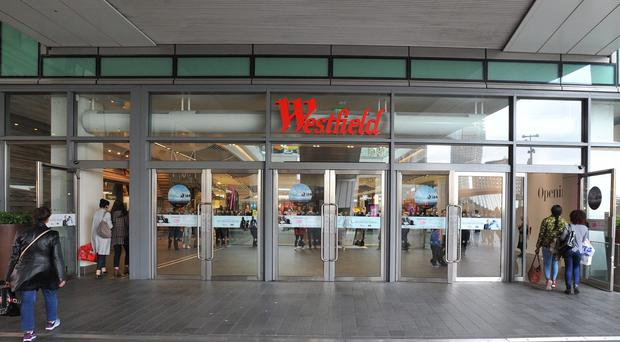 A man was stabbed in a mass brawl at Westfield Shopping Centre (PA)