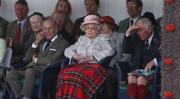 The Queen has made an appearance at the Braemar Royal Highland Gathering in Aberdeenshire (Andrew Milligan/PA)