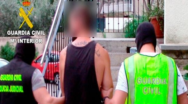 Twelve people from the UK were arrested by Spanish police who smashed a drug-dealing ring in Magaluf (Spanish Civil Guard/PA)