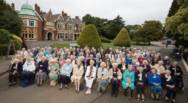 More than 100 people who worked at Bletchley Park have been reunited 78 years after the start of the Second World War (Aaron Chown/PA)