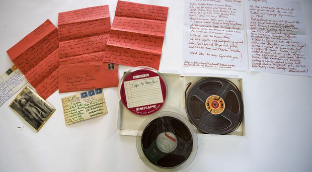 The track comes with letters from Harrison to his friend Mary Bee while he was in India with wife Pattie Boyd (Peter Byrne/PA)