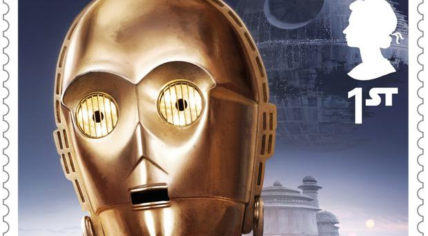 C-3P0 is one of the eight characters to feature in the set of stamps (Royal Mail/PA)