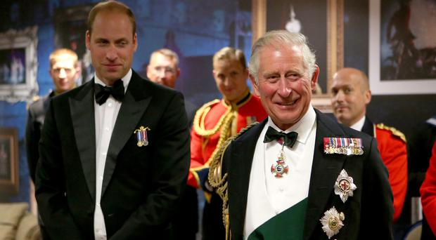 The Prince of Wales with the Duke of Cambridge (Jane Barlow/PA)