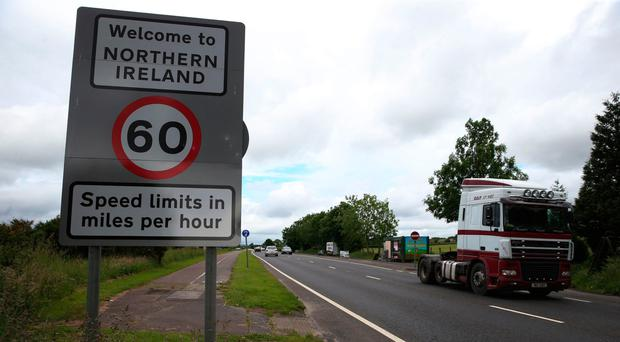 Traffic crossing the border between Northern Ireland and the Republic