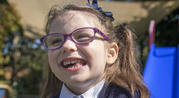 Evie Doherty is starting school with a new heart (Victoria Jones/PA)