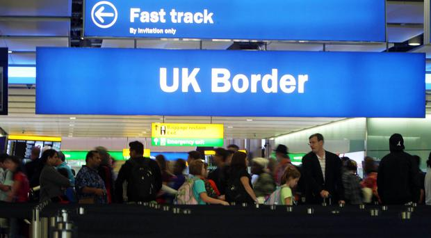 Post-Brexit draft migration plans have been leaked (Steve Parsons/PA)