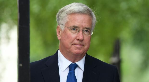 Sir Michael Fallon said global powers would leave 'no stone unturned' to find a diplomatic resolution (Stefan Rousseau/PA)