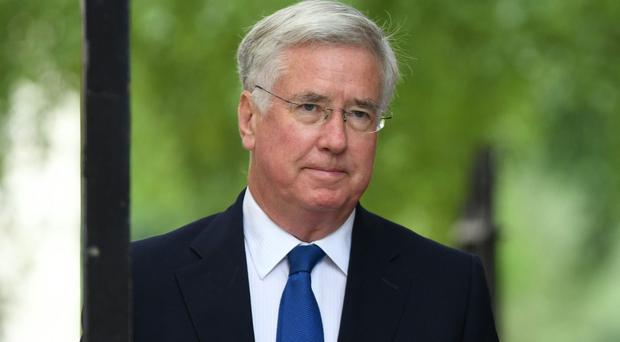 Sir Michael Fallon chaired the COBRA meeting to coordinate response yo Hurricane Irma (Stefan Rousseau/PA)