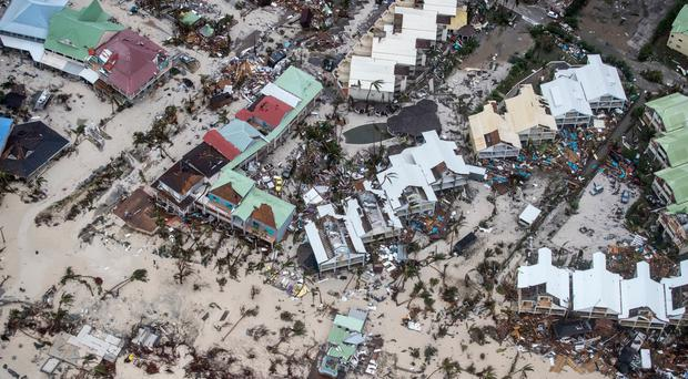 Aerial photos provided by the Dutch Defence Ministry show storm damage to St Maarten in the aftermath of Hurricane Irma
