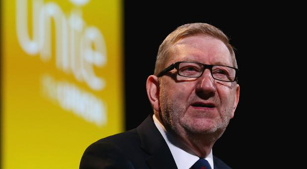 Unite boss Len McCluskey says Labour Party members should be given a say on who gets to stand for the party's leadership (Gareth Fuller/PA)
