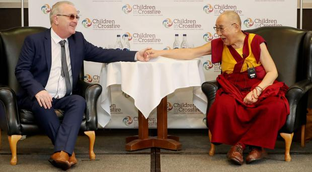 Dalai Lama has called for nuclear-free world during Londonderry visit (Niall Carson/PA)