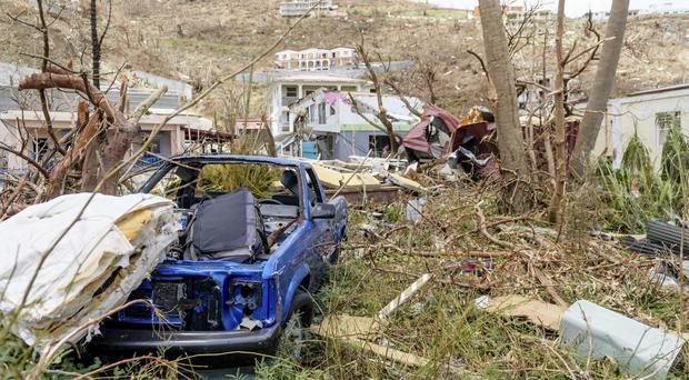 Damage caused by Hurricane Irma on the British Virgin Islands (MoD via AP)