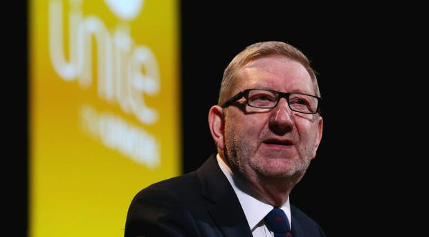 Len McCluskey warns of co-ordinated public sector action over pay (PA Wire)