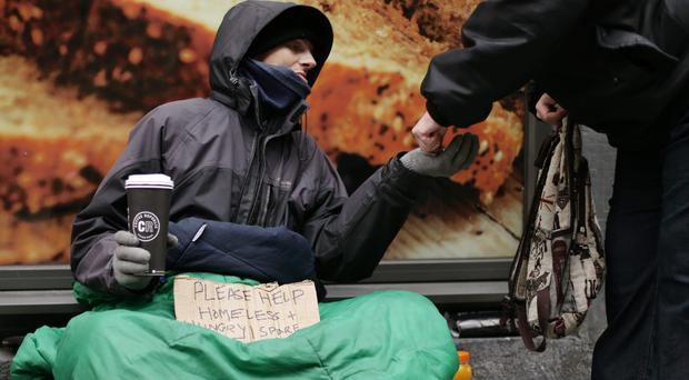A snapshot overnight count last autumn recorded 4,134 rough sleepers (Yui Mok/PA)