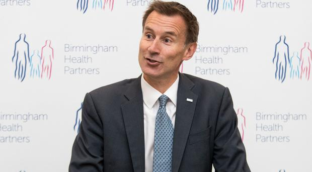 Jeremy Hunt said he wants the NHS to be the safest healthcare system in the world (Aaron Chown/PA)