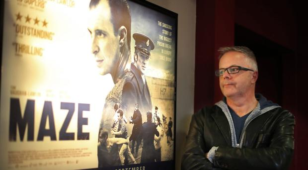 Writer and director Stephen Burke during previews of Maze at The Movie House cinema in Belfast (Niall Carson/PA)