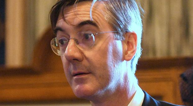 Jacob Rees-Mogg has described foodbanks as uplifting (Victoria Jones/PA)