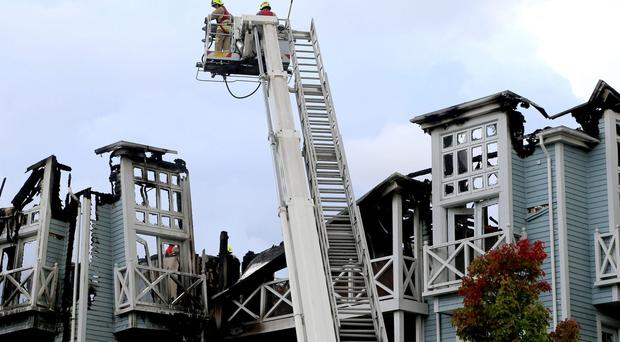 Firefighters at the scene in Snodland, Kent (Gareth Fuller/PA)
