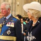 The Prince of Wales and the Duchess of Cornwall attend a service marking the 77th anniversary of the Battle of Britain at Westminster Abbey (Gareth Fuller/PA)