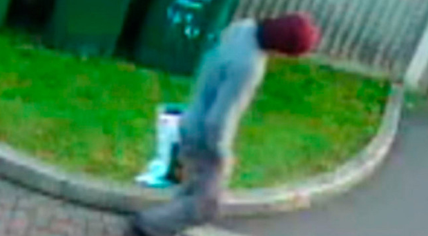 A CCTV image appearing to show a person walking with a Lidl bag on the morning of the Parsons Green terror attack (ITV News)