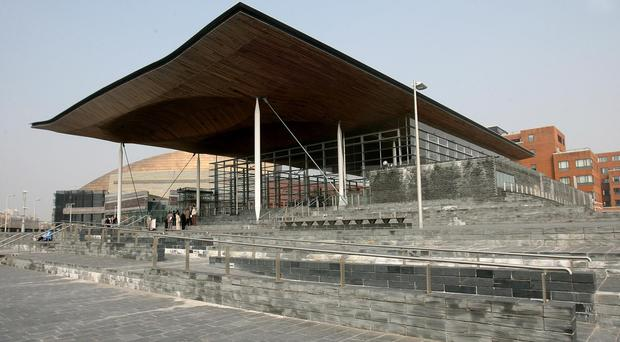 A picture of the front of the Senedd Building, National Assembly for Wales, in Cardiff Bay in 2007