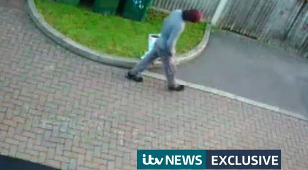 CCTV appearing to show a person walking with a Lidl bag on the morning of the Parsons Green terror attack (ITV News/PA)